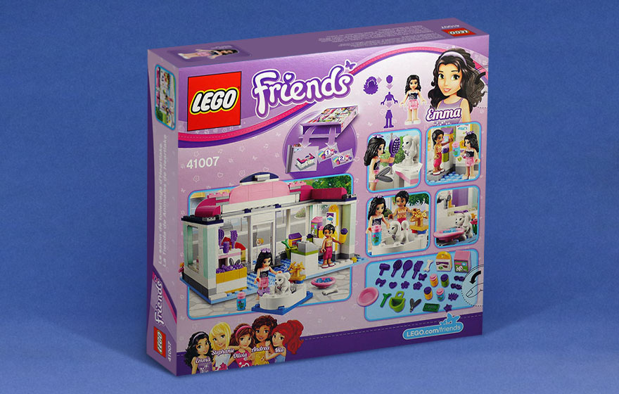 41007 le salon de toilettage d heartlake l animalerie d for Lego friends salon de coiffure